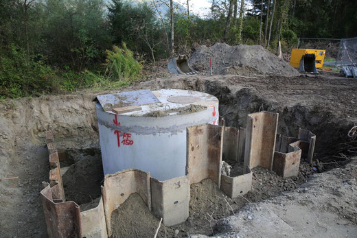 """die Pumpstation unterhalb der alten """"Müller Säge"""""""