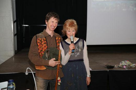 Peter u.Ingeborg Rupitsch präsentierten abwechselnd den Jakobsweg