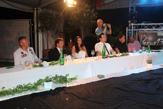 """die """"gestrenge"""" Jury mit Werner Franz und der vorjährigen Misswahlsiegerin Elisabeth Mikl"""