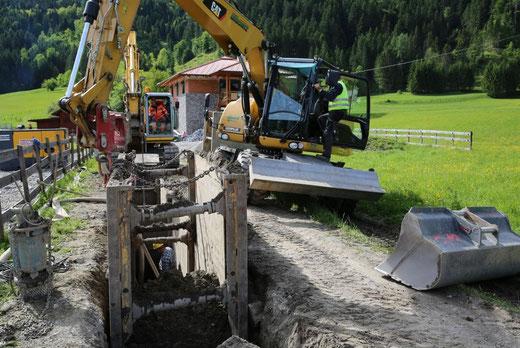 Kanalanschluss hinüber zum Ortner Hannes