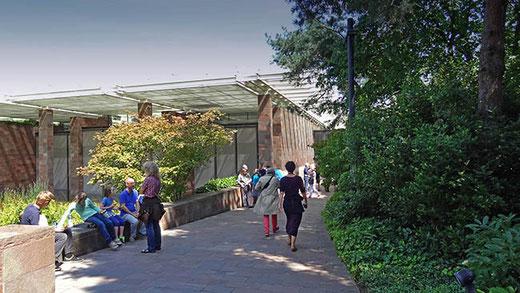 La fondation Beyeler, un des musées de Bâle de classe internationale. Son architecture est signée Renzo Piano.