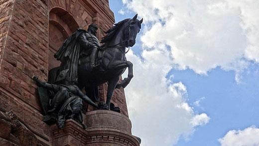 L'empereur Guillaume Ier sur son cheval.