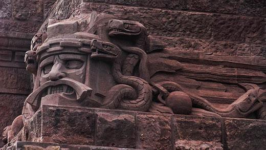 Un détail plutôt comique, d'inspiration vaguement aztèque.