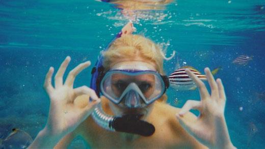 Zilla van den Born Urlaubsbild Unterwasser