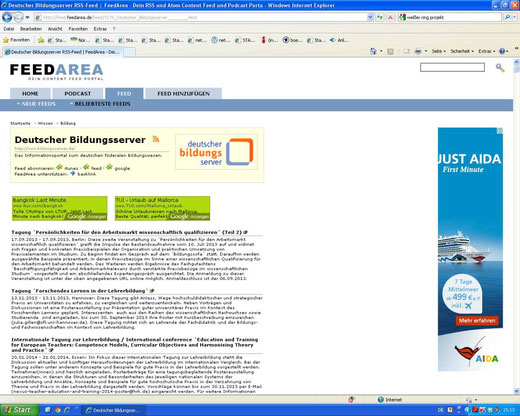 Feed #Nachhaltige Geldanlage in der Feedarea des DBS (Screenshot vom 08.10.2013)
