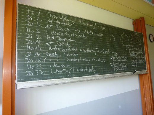 Projekt- und Unterrichtsplanung für Juli 2013