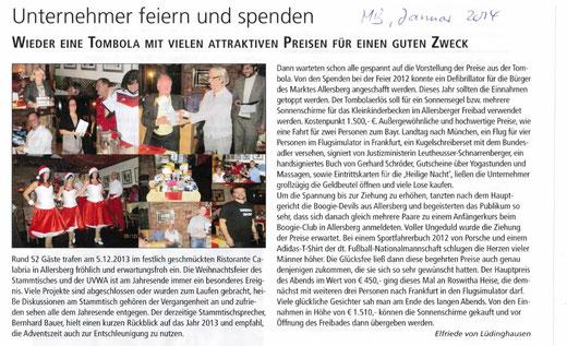 Artikel: Mitteilungsblatt Markt Allersberg, Januar 2014