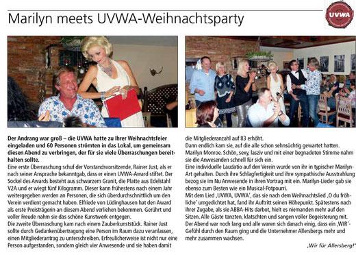 Marilyn Meets UVWA Weihnachtsfeier