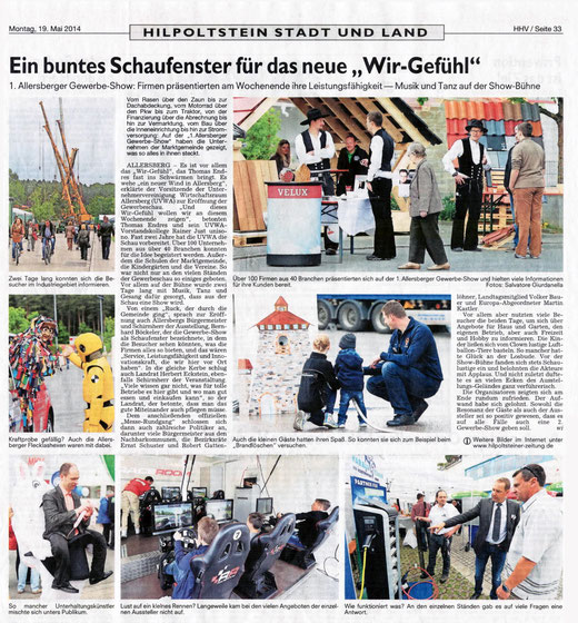 Artikel: Roth-Hilpoltsteiner Volkszeitung, 19. Mai 2014
