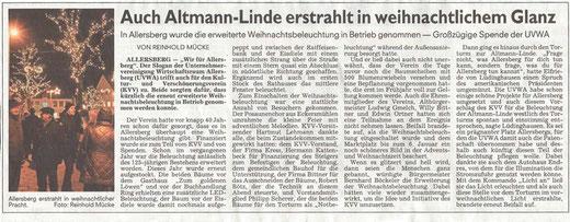 Spende zur Beleuchtung der Altmann-Linde