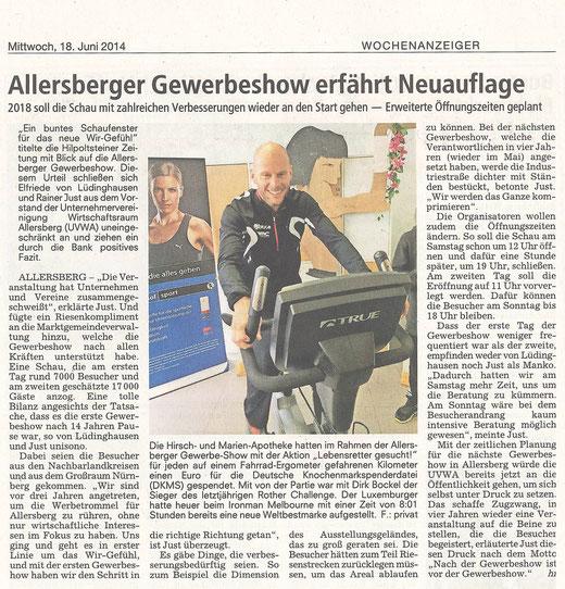 Artikel: WAZ, Juni 2014