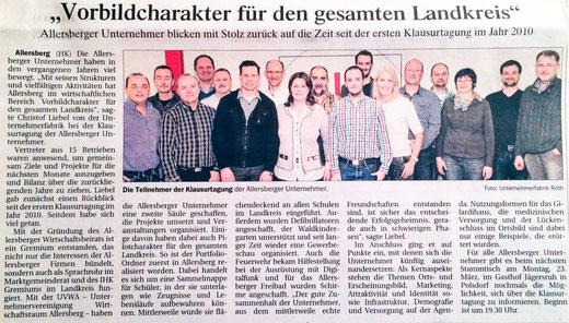 Artikel, Donaukurier, 13. März 2015 UVWA Klausurtagung