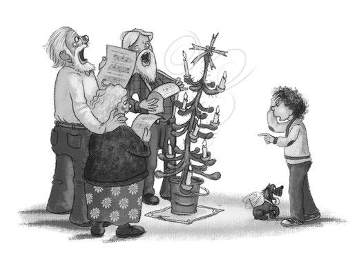 Gesang unter dem...äh...Tannenbaum.
