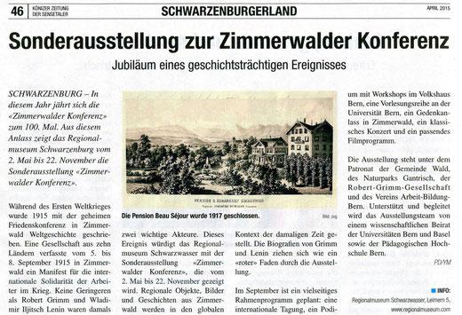 Sensetaler - Könizer Zeitung vom 22.04.2015