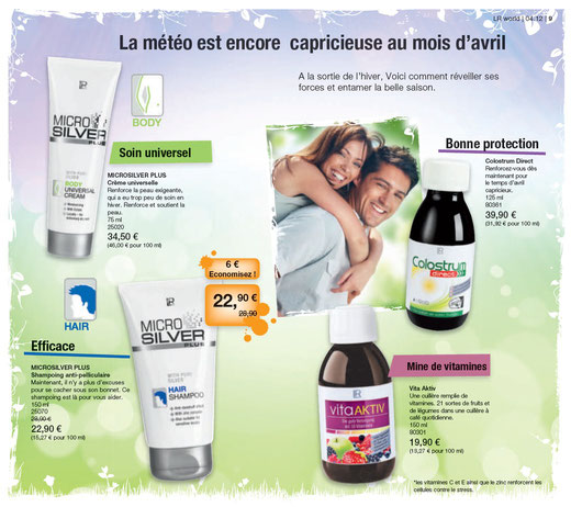 Promo avril 2012 LR Health and Beauty Systems