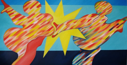 SAPRI, Öl auf Leinwand, 100 cm x 190 cm
