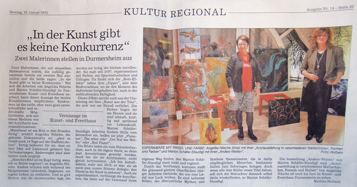 Marion Schäfer-Staudigl Karlsruhe Eggenstein Badische Neuste Nachrichten Ausstellung
