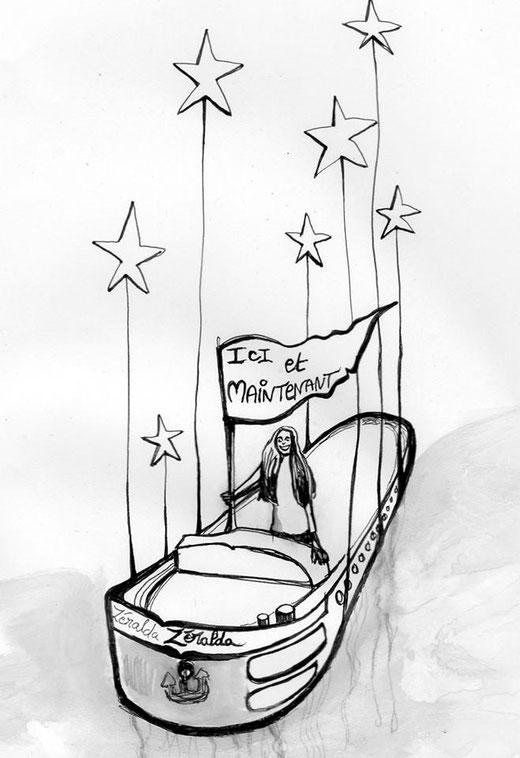 Illustration du poème par Marie Ogonowski