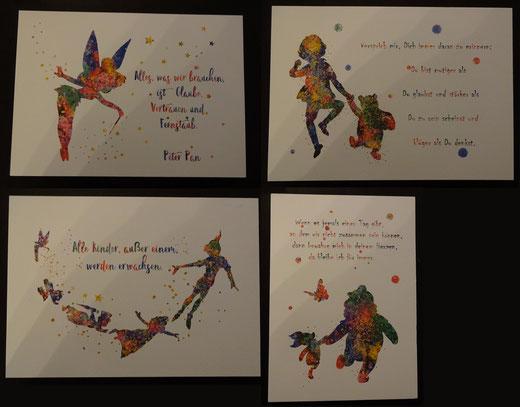 1 von 4 verschiedenen Kunstdrucken von Rosalies Art (Peter Pan oder Winnie Puuh) 7,43 €