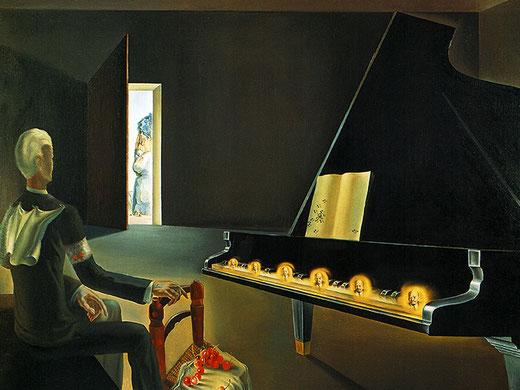 Самые необычные картины Дали - Шесть явлений Ленина на рояле