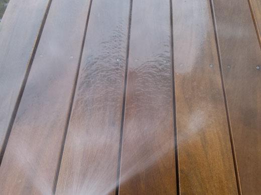 TTropenholzterrasse Reinigung