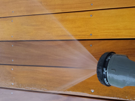 Holzterrassen Reinigung