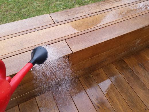 Terrassenreinigung mit Oxalsäure