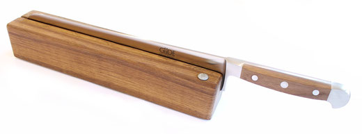 Güde Messerhalter RE001/32 + großes Brotmesser Walnuss