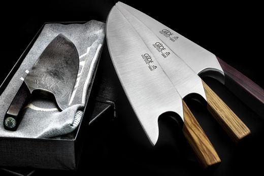 Güde THE KNIFE - Geschenkarton mit Küchenhandtuch