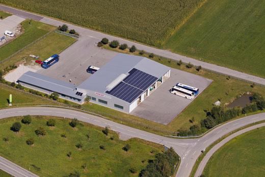 Luftaufnahme des Betriebsgeländes Dobler in Ortenburg