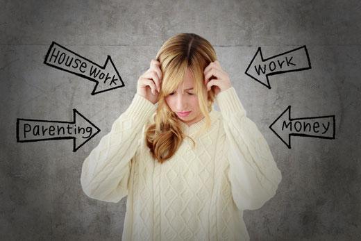 ストレス 家事 結婚 悩み 仕事 お金 辛い リラックスできない 心理セラピー 心理カウンセリング トゥルーステップ はたなかとよひで 畑中登世秀