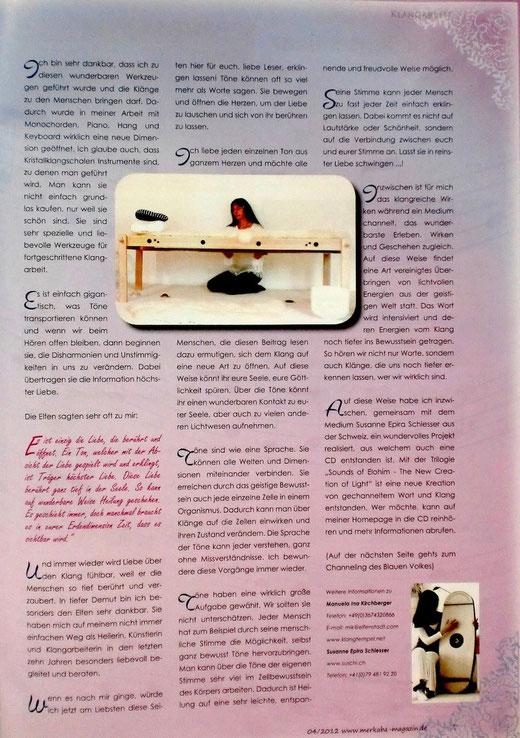 Markaba Magazin Seite 3  /2012