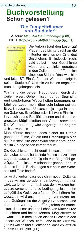 """Aus der Zeitschrift """"Trommelgeflüster"""" 11/12-2014"""