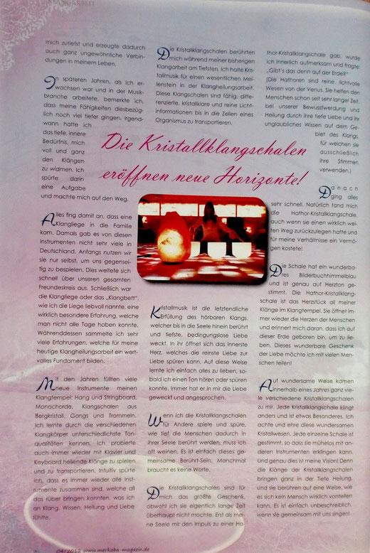 Markaba Magazin Seite 2  /2012