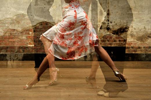 Gaëlle Girbes Tango danse dance deux surimpression photographie