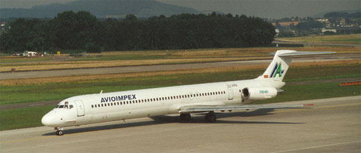 Avioimpex MD-81 in Zürich/Courtesy: Lukas Vetter