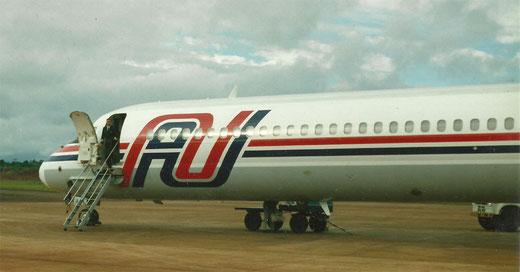 Die MD-83 LV-VAG, aufgenommen 1993 in Iguazu/Argentinien/Privatarchiv