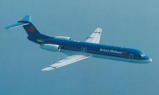 Fokker 100 in den Farben von British Midland/Courtesy: Fokker