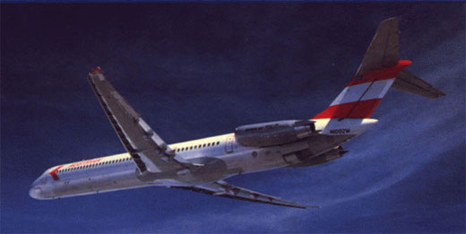 MD-81 der Austrian Airlines/Courtesy: McDonnell Douglas