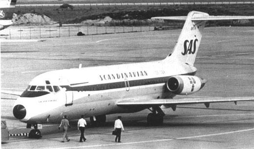 Der kurze Rumpf der DC-9-21 ist hier deutlich zu sehen/Courtesy: SAS