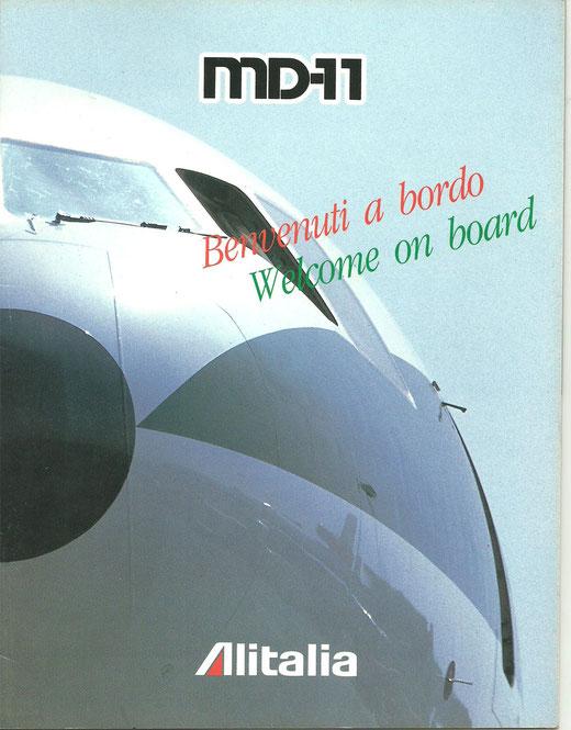 Titelblatt eines MD-11-Pamphlets der Alitalia/Privatsammlung/Courtesy:Alitalia