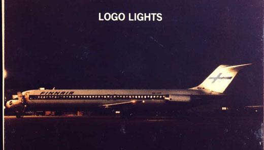 Selbst der Hersteller warb für Logolichter, hier mit einer DC-9-50 der Finnair/Courtesy: McDonnell Douglas