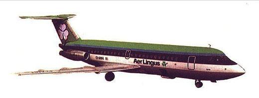 Einst mit sehr hohem Lärmpegel - die BAC One-Eleven/Courtesy: Aer Lingus