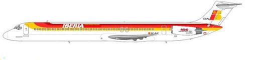 MD-83 im Farbkleid der Iberia/Courtesy:Courtesy: md80design
