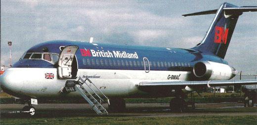 DC-9-Komfort auch auf regionalen Routen/Courtesy: British Midland
