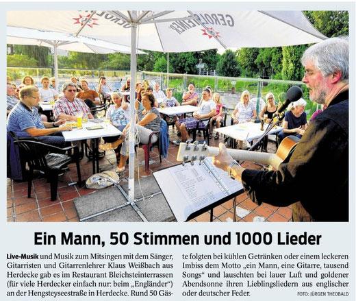Artikel in der Westfälischen Rundschau vom 5.8.2014