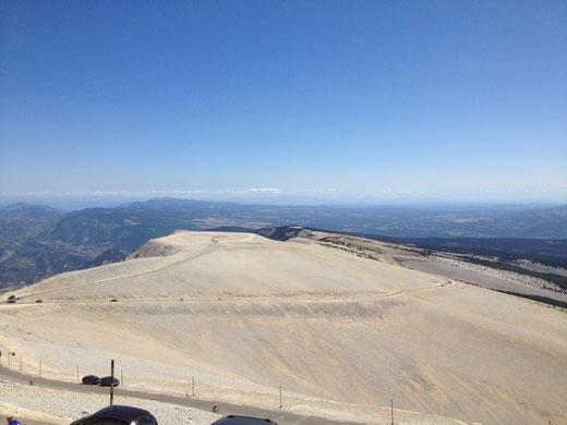 """der Mont Ventoux """"von oben"""" betrachtet"""