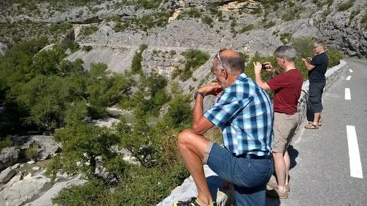 Udo, Gerald und Hubert sind beeindruckt von der Landschaft