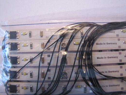 20 x  LED Waggon Beleuchtung Lichtleiste weiß 230mm