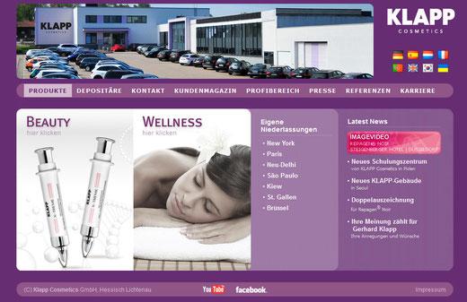 Klapp Cosmetics Partner für Pflegeprodukte